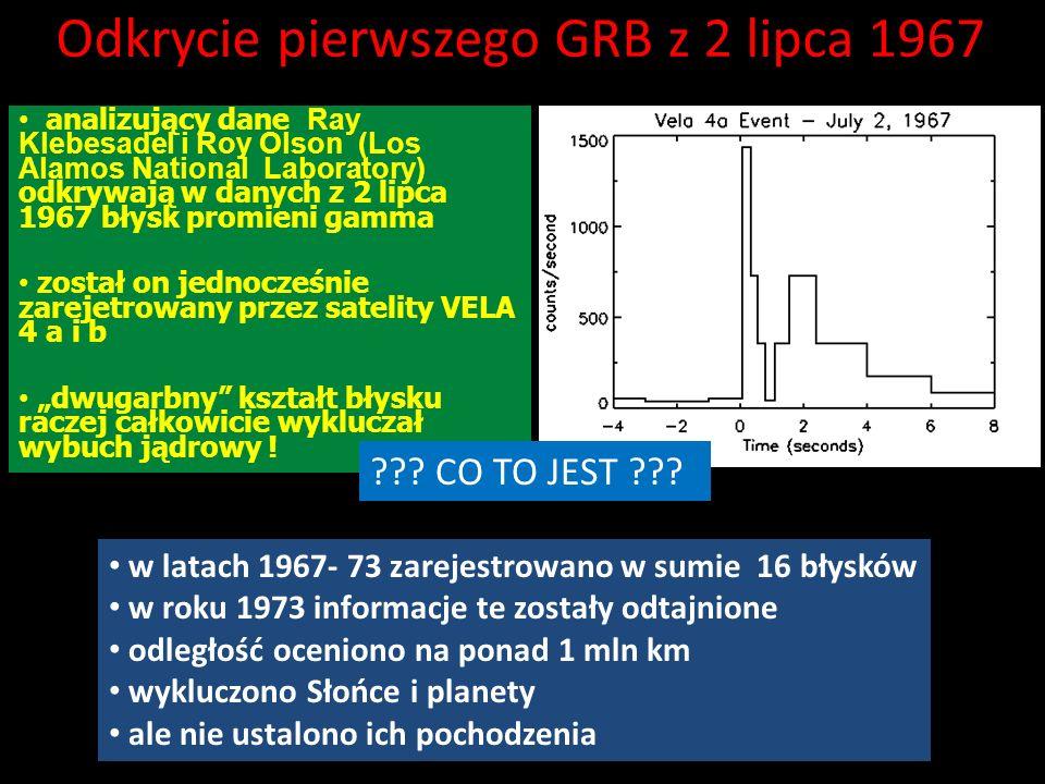 Odkrycie pierwszego GRB z 2 lipca 1967