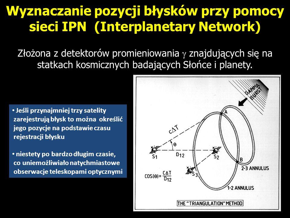 Wyznaczanie pozycji błysków przy pomocy sieci IPN (Interplanetary Network)