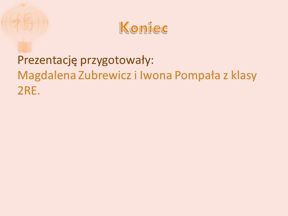 Koniec Prezentację przygotowały: Magdalena Zubrewicz i Iwona Pompała z klasy 2RE.
