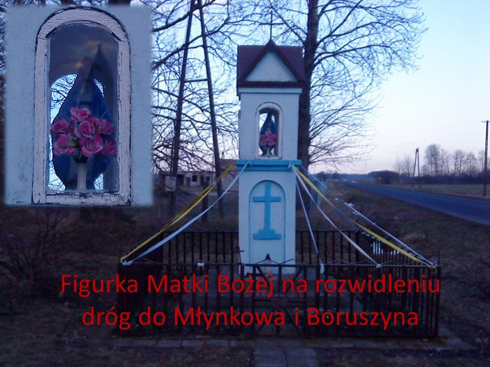 Figurka Matki Bożej na rozwidleniu dróg do Młynkowa i Boruszyna