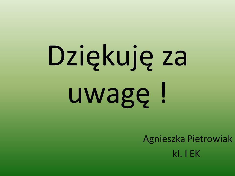 Agnieszka Pietrowiak kl. I EK