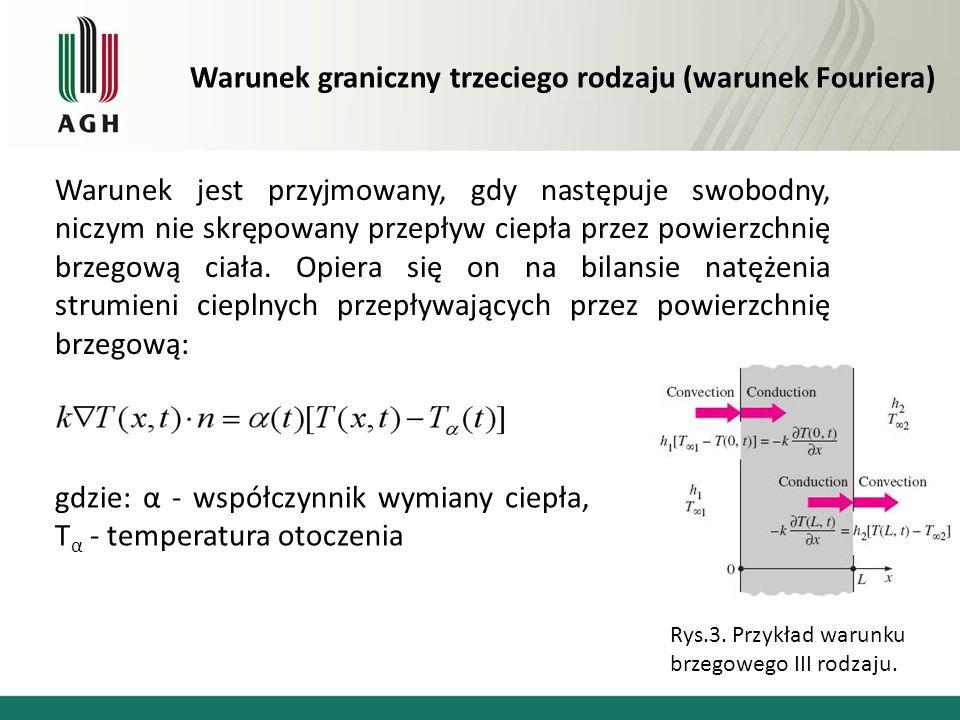 Warunek graniczny trzeciego rodzaju (warunek Fouriera)