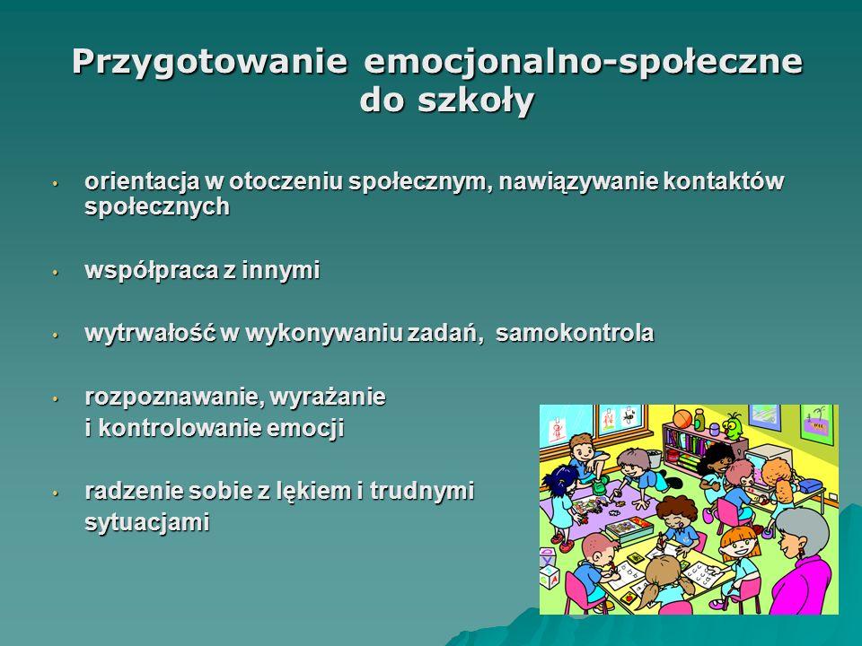 Przygotowanie emocjonalno-społeczne do szkoły