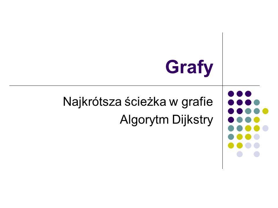Najkrótsza ścieżka w grafie Algorytm Dijkstry