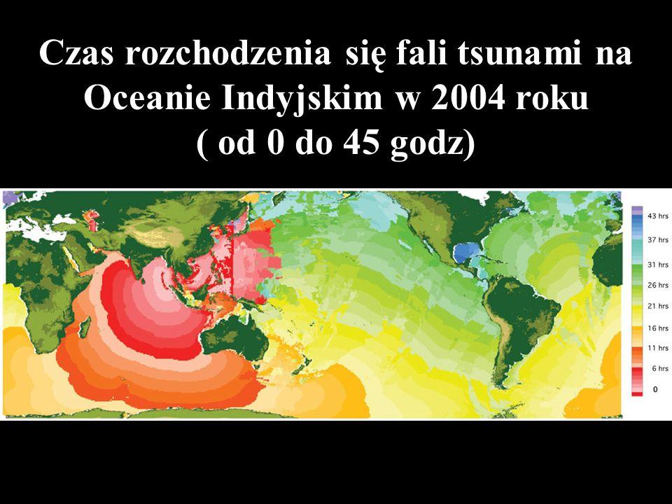 Czas rozchodzenia się fali tsunami na Oceanie Indyjskim w 2004 roku