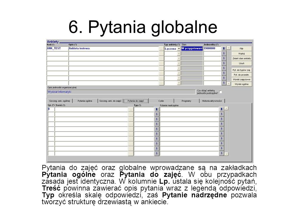 6. Pytania globalne