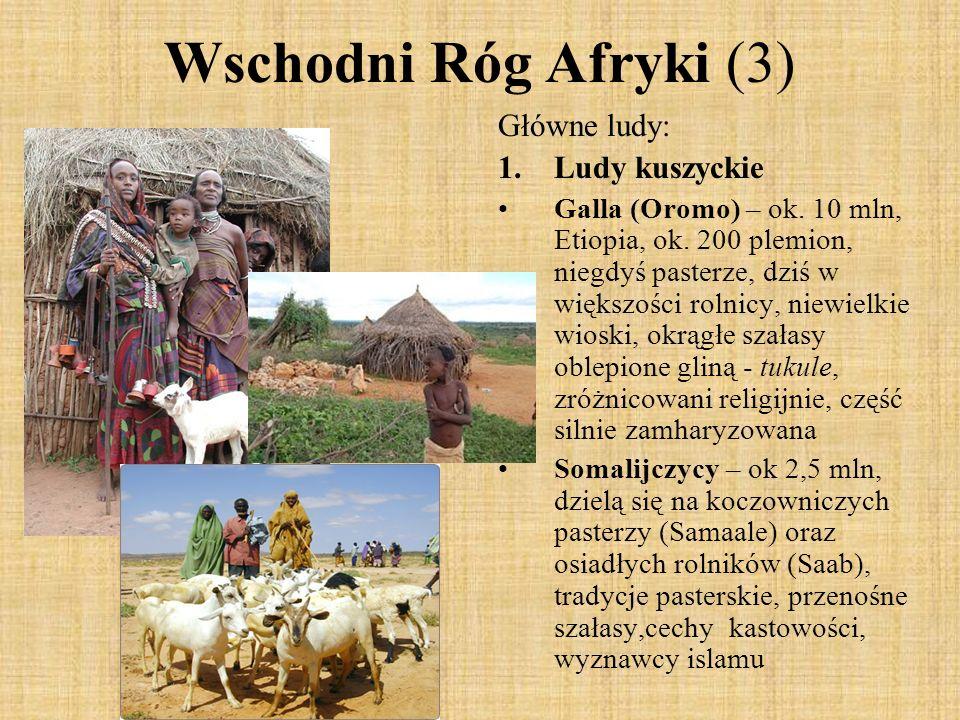 Wschodni Róg Afryki (3) Główne ludy: Ludy kuszyckie