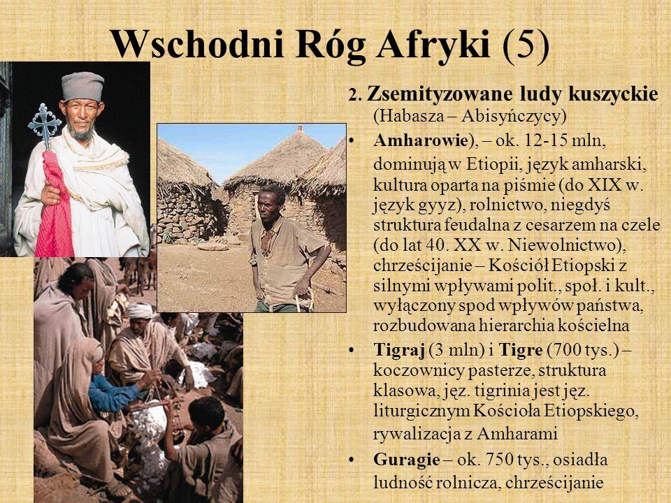 Wschodni Róg Afryki (5) 2. Zsemityzowane ludy kuszyckie (Habasza – Abisyńczycy)