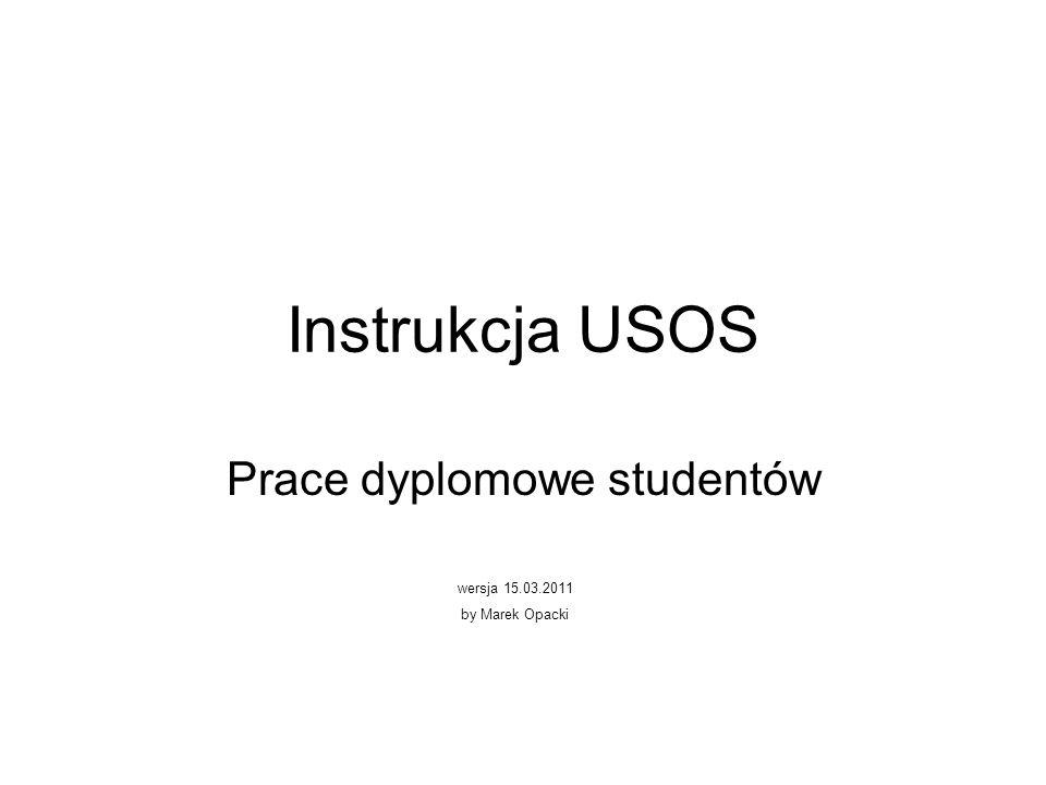 Prace dyplomowe studentów