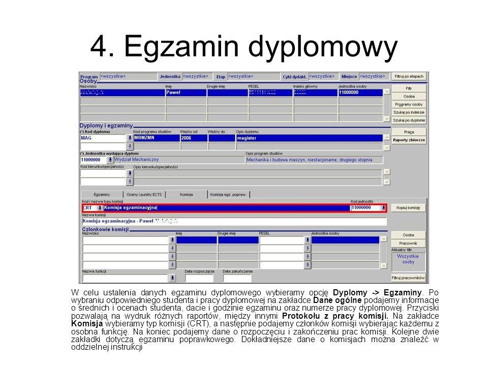 4. Egzamin dyplomowy