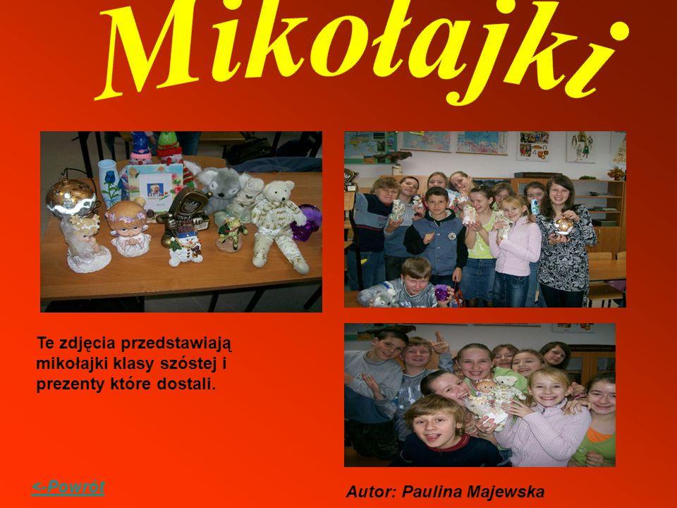 Mikołajki Te zdjęcia przedstawiają mikołajki klasy szóstej i prezenty które dostali.