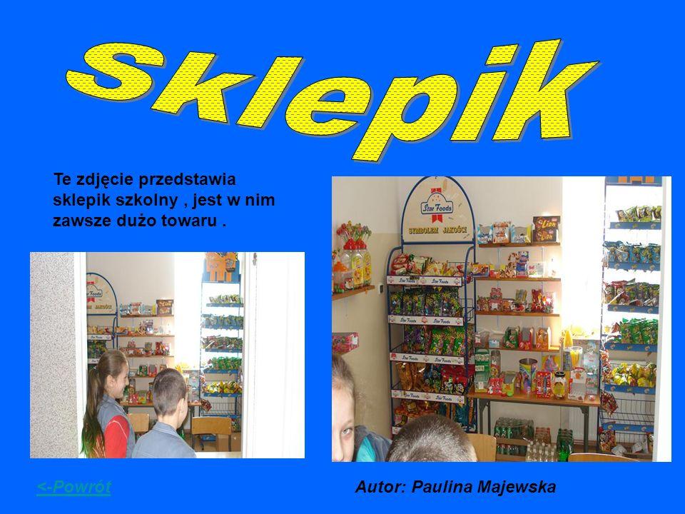 Sklepik Te zdjęcie przedstawia sklepik szkolny , jest w nim zawsze dużo towaru .
