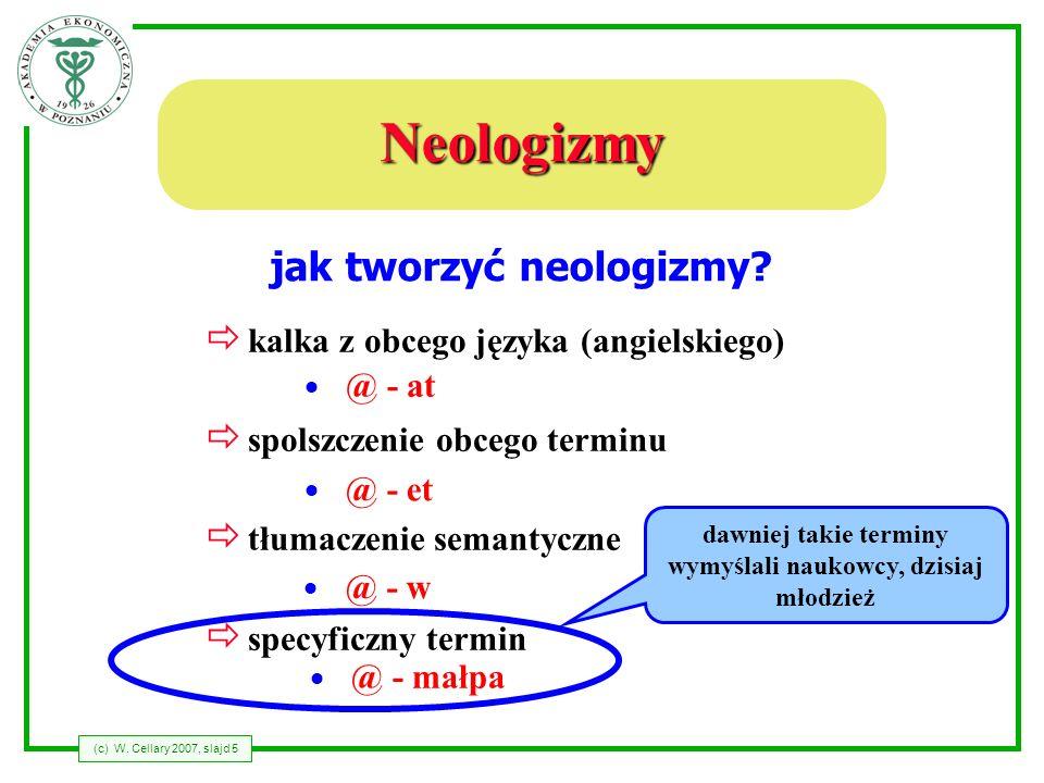 Neologizmy jak tworzyć neologizmy