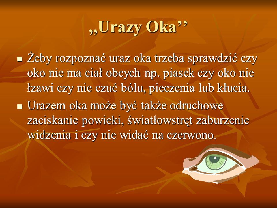 ,,Urazy Oka''