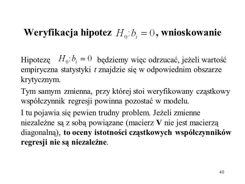 Weryfikacja hipotez , wnioskowanie