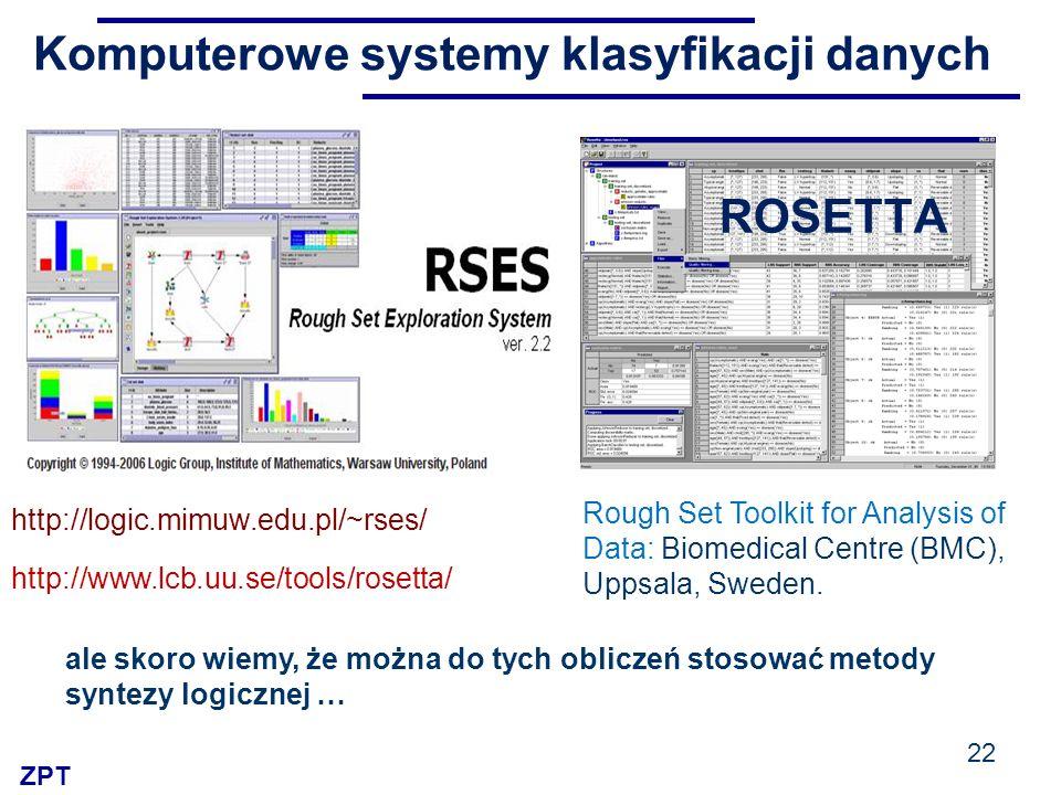 Komputerowe systemy klasyfikacji danych