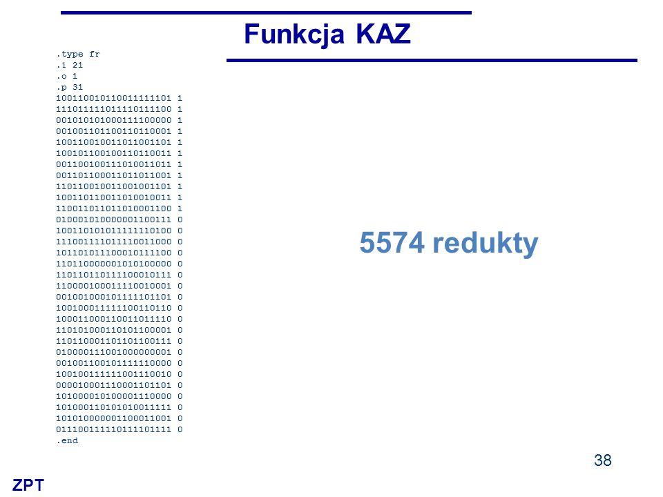 5574 redukty Funkcja KAZ .type fr .i 21 .o 1 .p 31