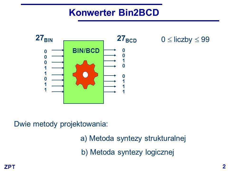 Konwerter Bin2BCD 27BIN 27BCD 0  liczby  99