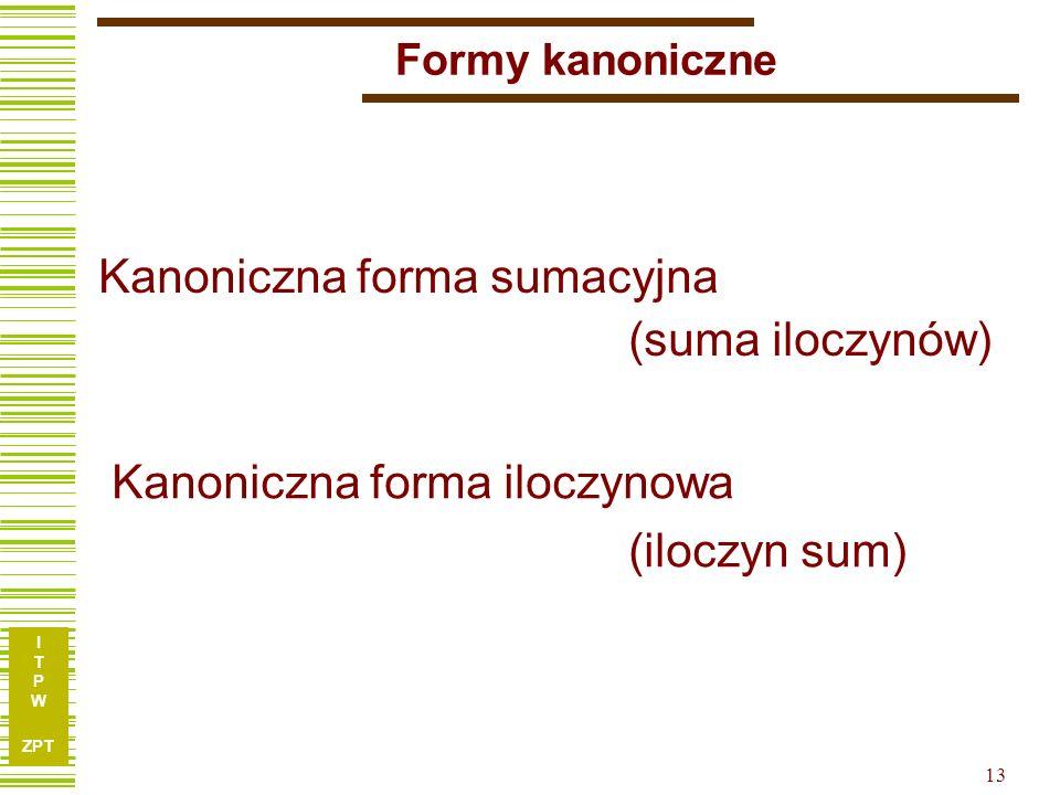 Kanoniczna forma sumacyjna (suma iloczynów)