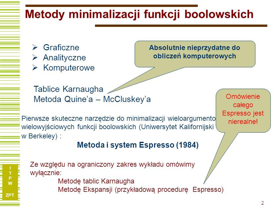 Metody minimalizacji funkcji boolowskich