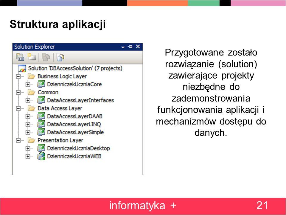 Struktura aplikacji informatyka +
