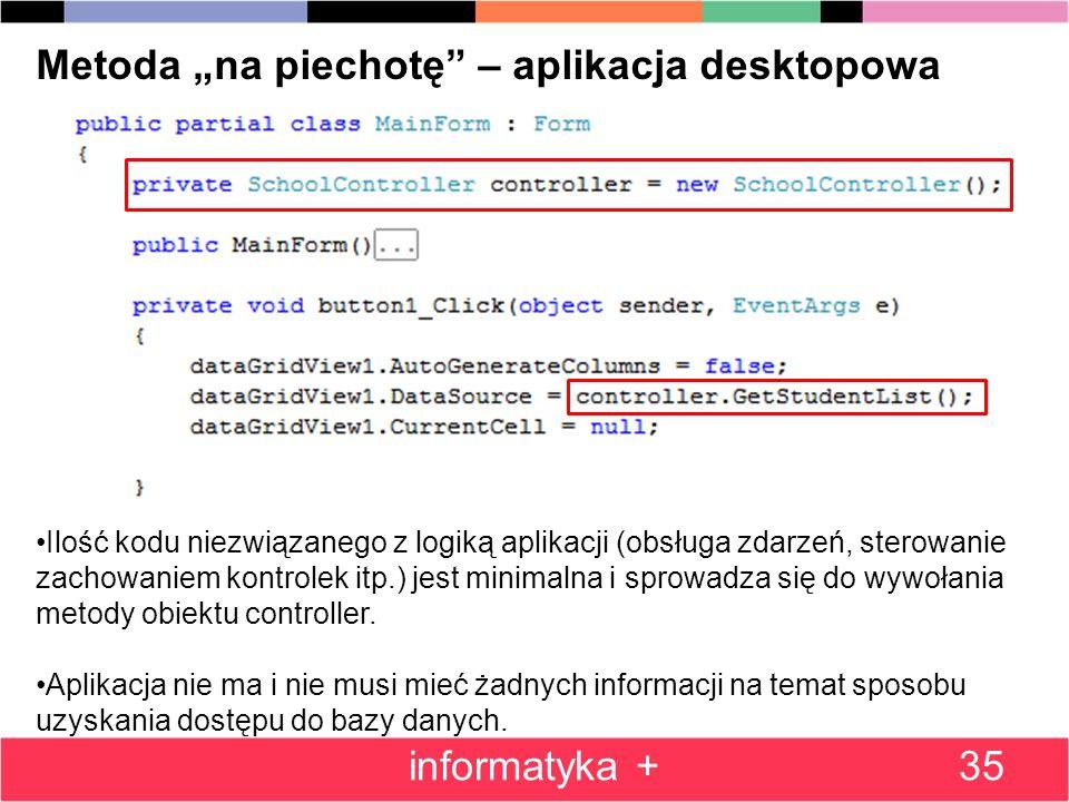 """Metoda """"na piechotę – aplikacja desktopowa"""
