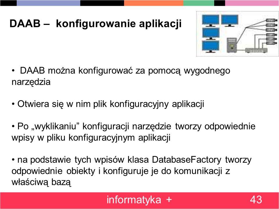 DAAB – konfigurowanie aplikacji