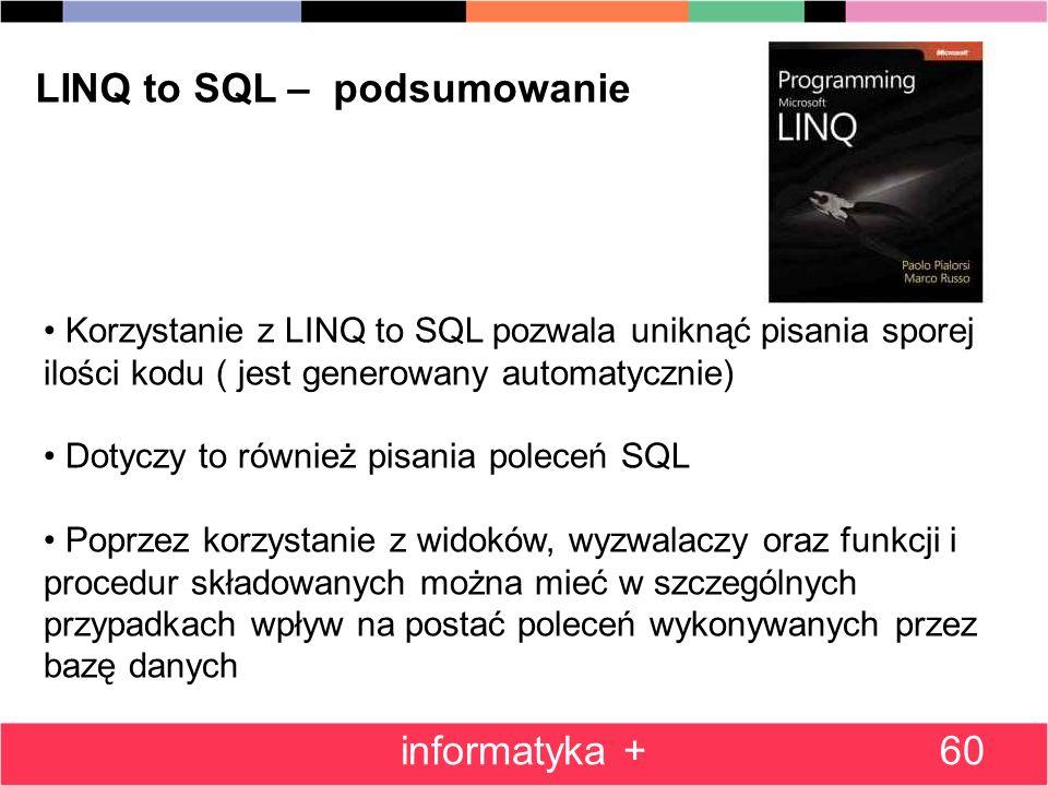 LINQ to SQL – podsumowanie