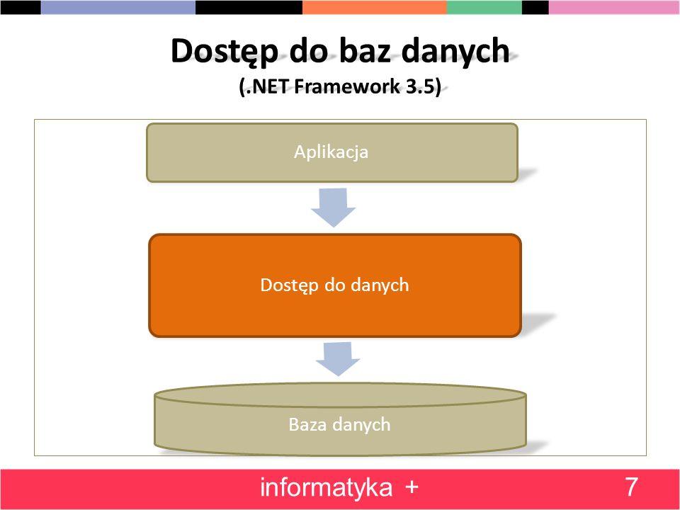 Dostęp do baz danych (.NET Framework 3.5)