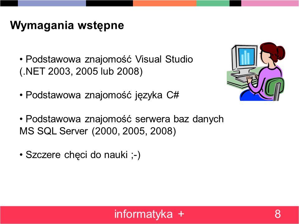 Wymagania wstępne informatyka +