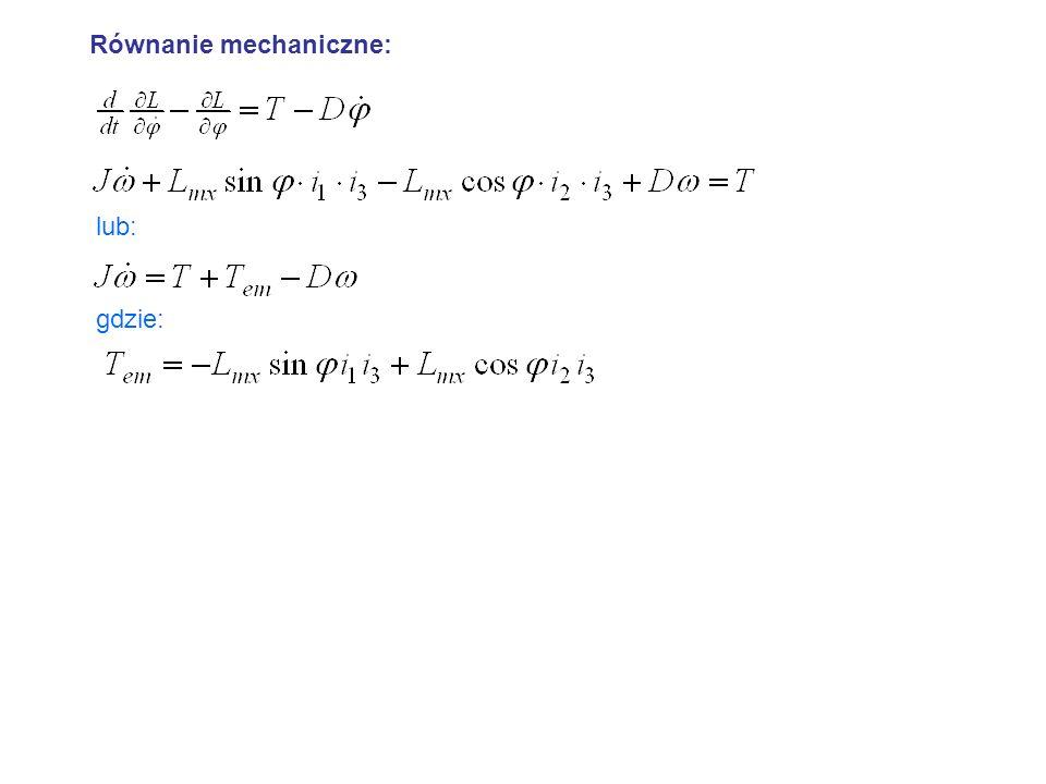 Równanie mechaniczne: