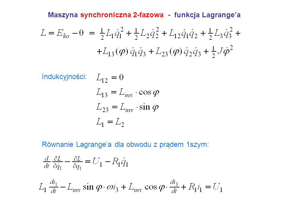 Maszyna synchroniczna 2-fazowa - funkcja Lagrange'a