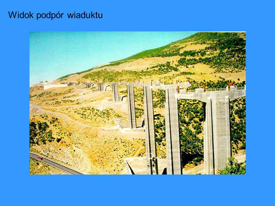 Widok podpór wiaduktu