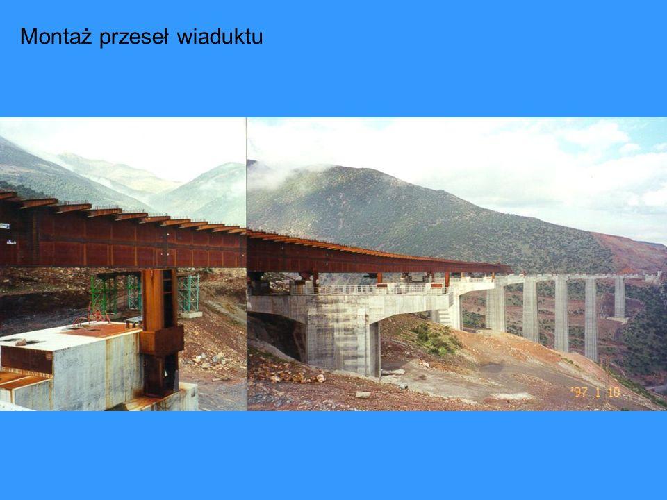 Montaż przeseł wiaduktu