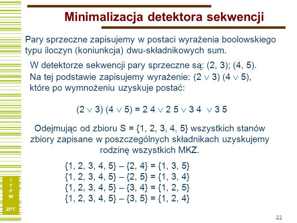 Minimalizacja detektora sekwencji