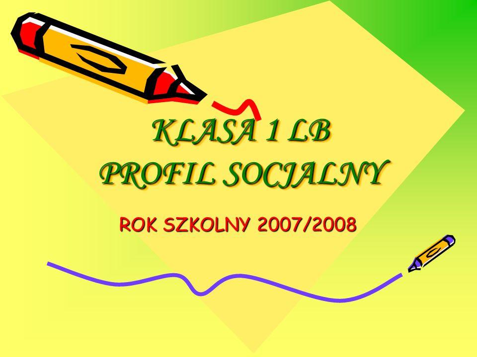 KLASA 1 LB PROFIL SOCJALNY