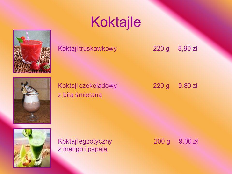 Koktajle Koktajl truskawkowy 220 g 8,90 zł