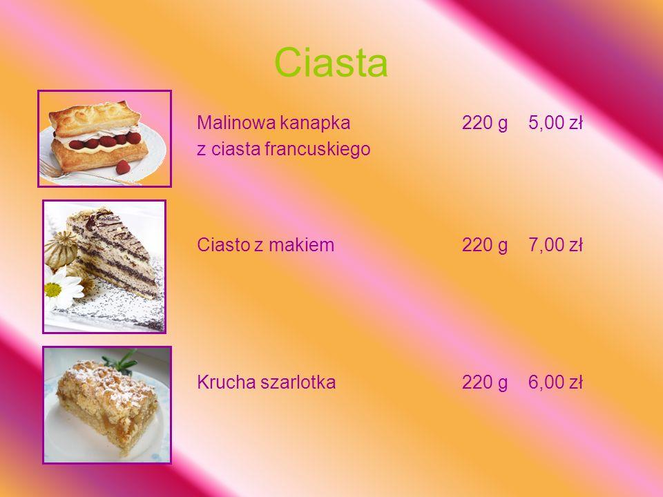 Ciasta Malinowa kanapka 220 g 5,00 zł z ciasta francuskiego