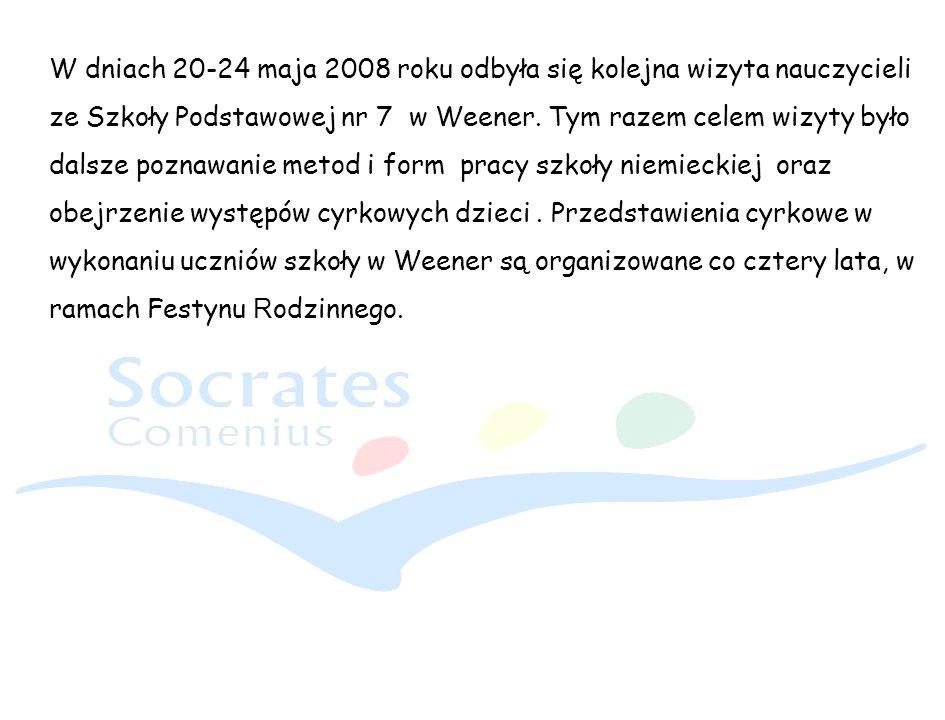 W dniach 20-24 maja 2008 roku odbyła się kolejna wizyta nauczycieli ze Szkoły Podstawowej nr 7 w Weener.