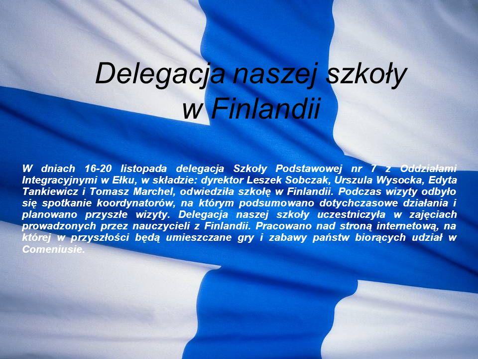Delegacja naszej szkoły w Finlandii