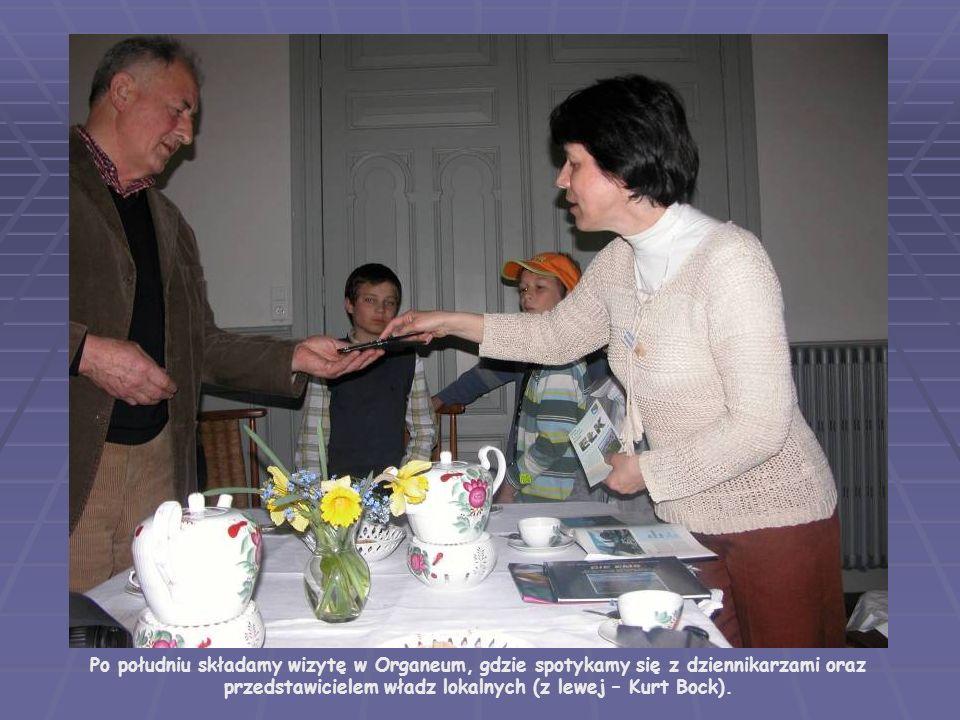 Po południu złożyliśmy wizytę w Organeum, gdzie spotkaliśmy się z dziennikarzami oraz przedstawicielem władz lokalnych (z lewej – Kurt Bock).