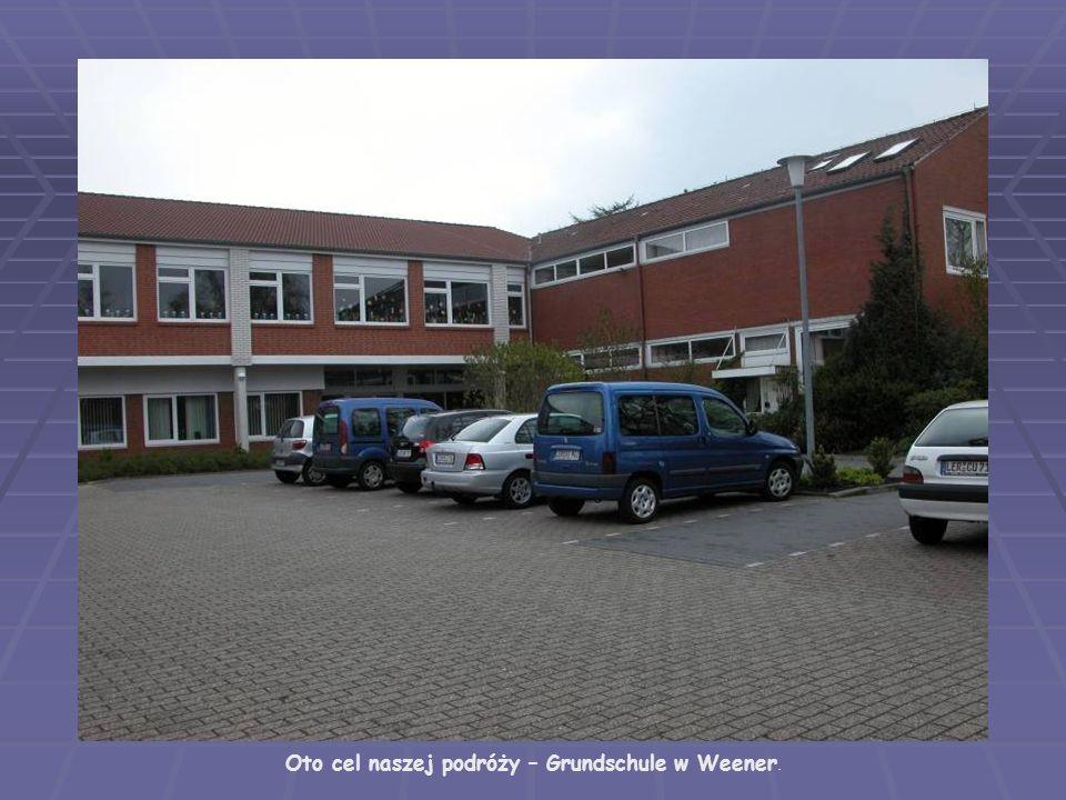Oto cel naszej podróży – Grundschule w Weener.