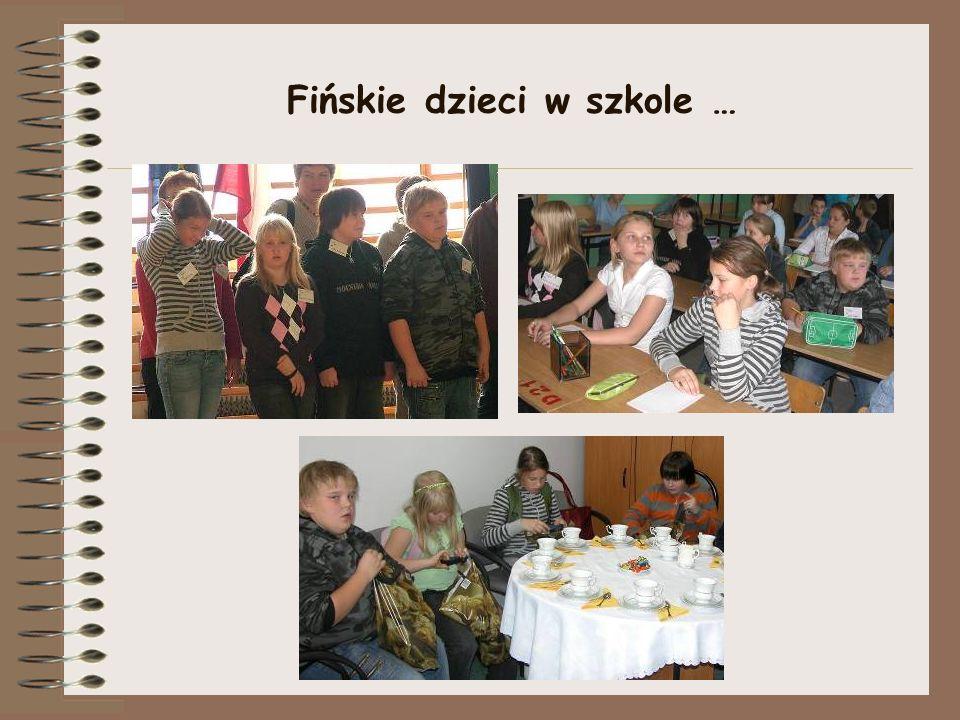 Fińskie dzieci w szkole …