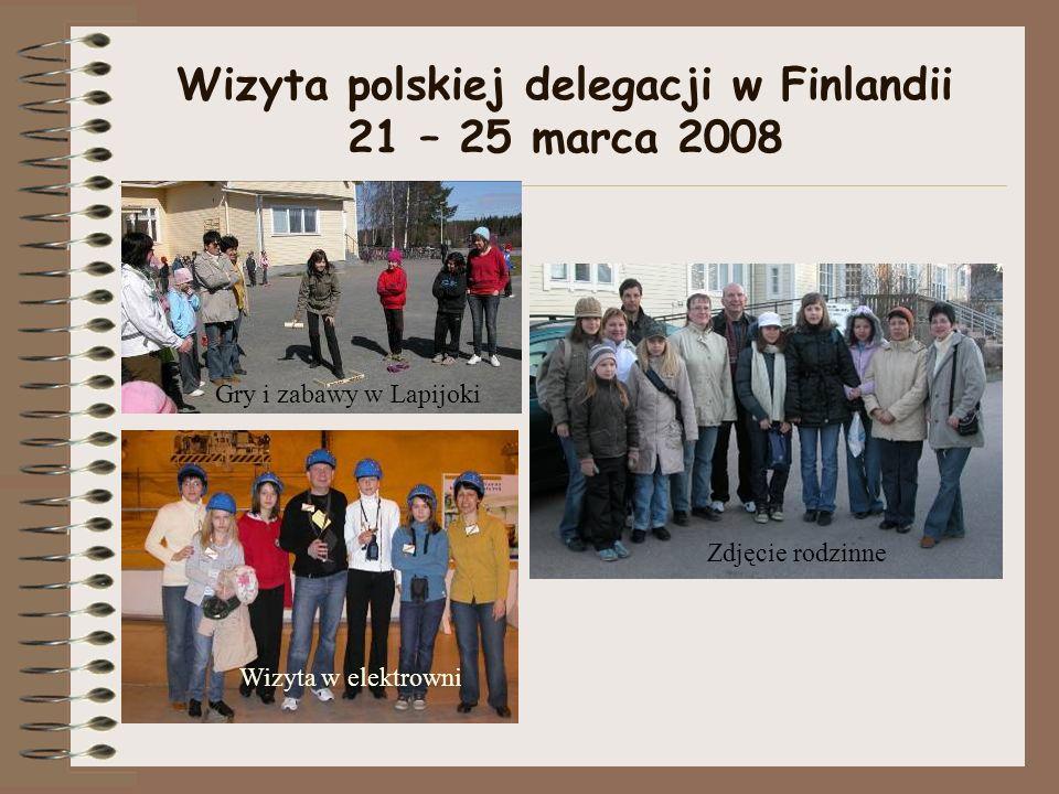 Wizyta polskiej delegacji w Finlandii 21 – 25 marca 2008