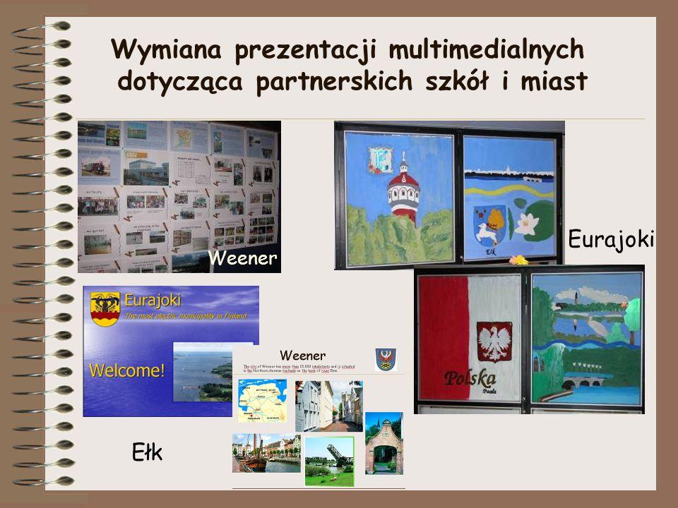 Wymiana prezentacji multimedialnych dotycząca partnerskich szkół i miast