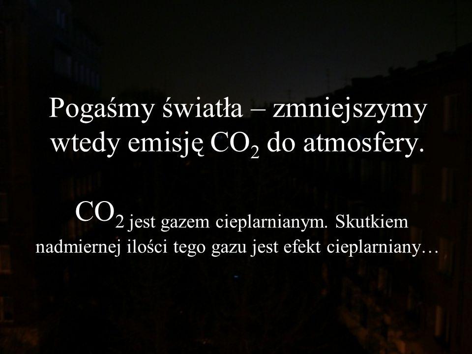 Pogaśmy światła – zmniejszymy wtedy emisję CO2 do atmosfery