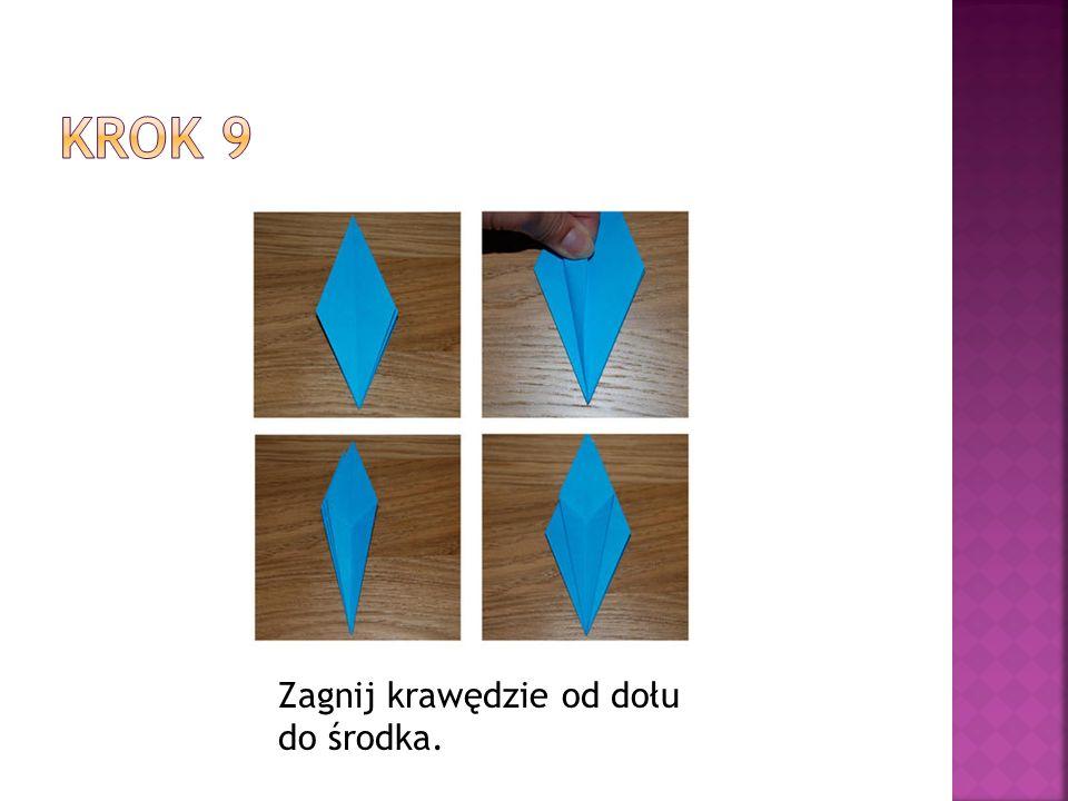 Krok 9 Zagnij krawędzie od dołu do środka.