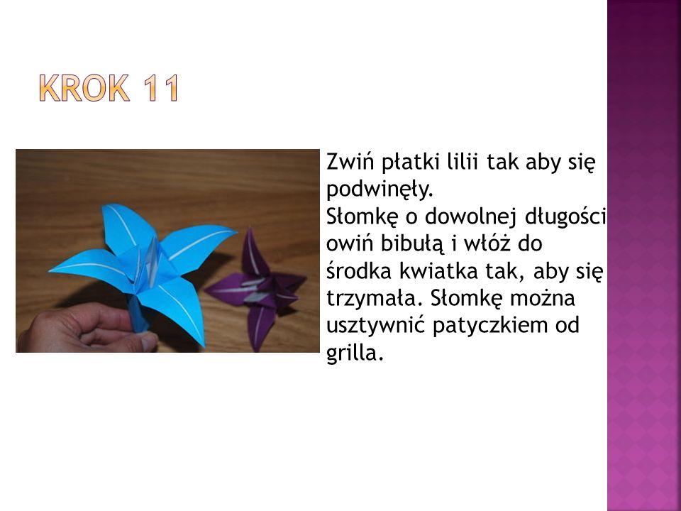 Krok 11 Zwiń płatki lilii tak aby się podwinęły.