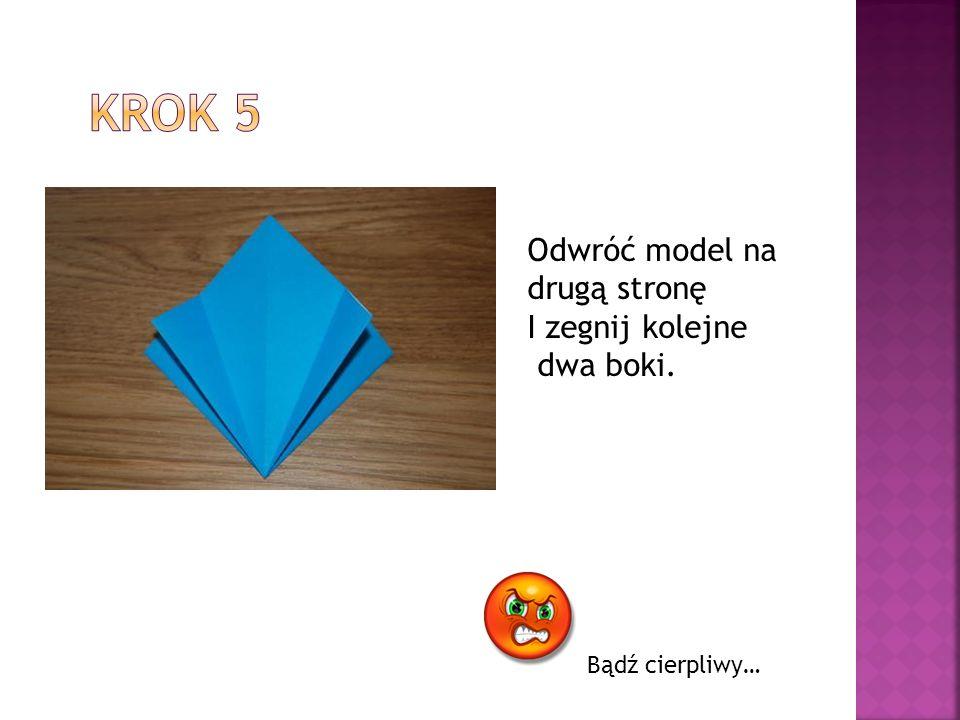 Krok 5 Odwróć model na drugą stronę I zegnij kolejne dwa boki.