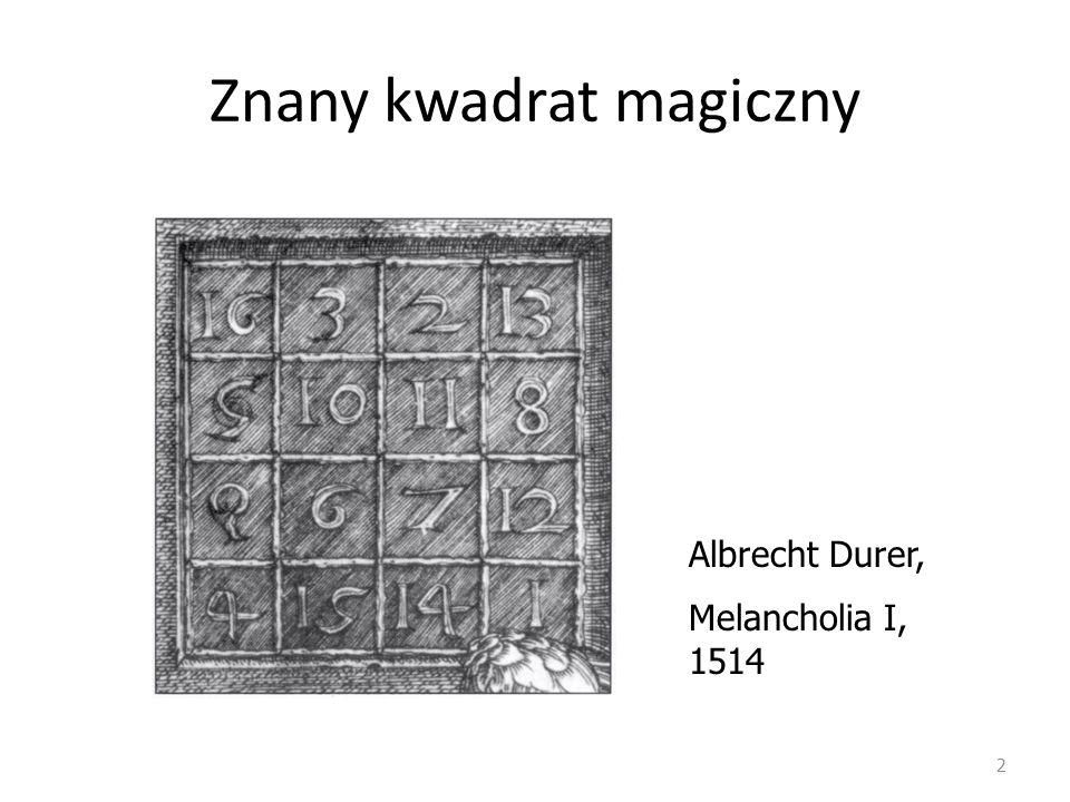 Znany kwadrat magiczny
